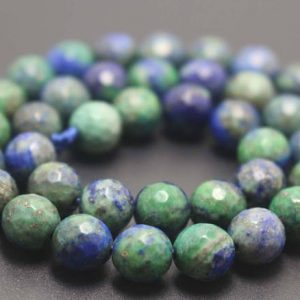 128 Faceted Dyed Chrysocolla Round Beads,6mm/8mm/10mm/12mm Gemstone Beads Supply,15 Inches One Starand