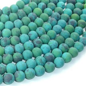 Matte Chrysocolla, 8mm(8.7mm) Round Beads, 15.5 Inch, Full Strand, Approx 48 Beads, Hole 1 Mm, A Quality,reconstituted (196054015)