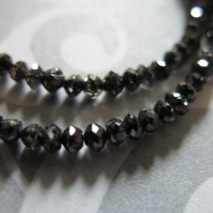 Shop Black Diamond Beads! 5-25 Pcs / 2-2.5 Mm Black Diamond Rondelles Beads, Genuine Luxe Aaa / Precious Gemstones Wholesale Diamonds April Birthstone Drb Tr 25 Solo | Natural genuine beads Diamond beads for beading and jewelry making.  #jewelry #beads #beadedjewelry #diyjewelry #jewelrymaking #beadstore #beading #affiliate #ad