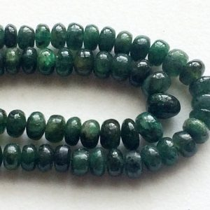 Emerald Beads, Green Emerald Beads, Emerald Plain Rondelle Beads, Emerald Necklace, 2.5-5mm, 7 Inch – Pgpa141
