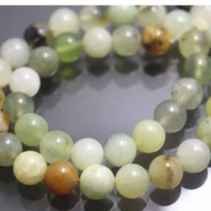 Shop Jade Beads! Xiuyan Jade Beads,6mm/8mm/10mm/12mm Smooth and Round Stone Beads,15 inches one starand | Natural genuine beads Jade beads for beading and jewelry making.  #jewelry #beads #beadedjewelry #diyjewelry #jewelrymaking #beadstore #beading #affiliate #ad