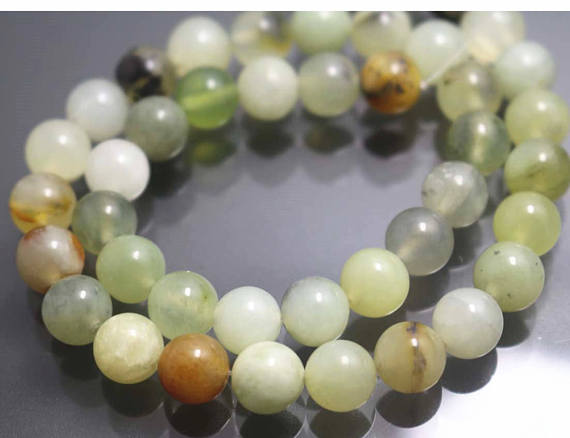 Xiuyan Jade Beads,6mm/8mm/10mm/12mm Smooth And Round Stone Beads,15 Inches One Starand
