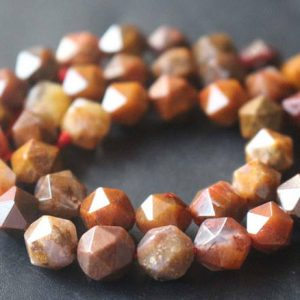 Natural Faceted Red Jasper Star Cut Nugget Beads,6mm/8mm/10mm/12mm Beads Supply,15 inches one starand | Natural genuine chip Jasper beads for beading and jewelry making.  #jewelry #beads #beadedjewelry #diyjewelry #jewelrymaking #beadstore #beading #affiliate #ad