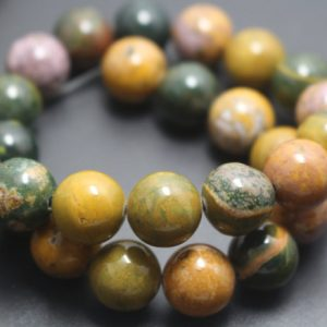 Natural Ocean Jasper Beads,6mm/8mm/10mm/12mm Smooth And Round Stone Beads,15 Inches One Starand