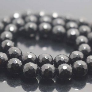 Shop Onyx Faceted Beads! Natural 128 Faceted Black Onyx Round Beads,4mm/6mm/8mm/10mm/12mm Gemstone Beads Supply,15 inches one starand | Natural genuine faceted Onyx beads for beading and jewelry making.  #jewelry #beads #beadedjewelry #diyjewelry #jewelrymaking #beadstore #beading #affiliate #ad