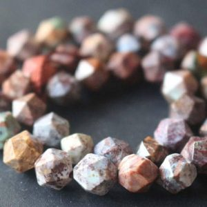 Natural Faceted African Green Opal Star Cut Nugget Beads,6mm/8mm/10mm/12mm Beads Supply,15 Inches One Starand