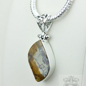 Rhyolite Rainforest Jasper 925 S0lid Sterling Silver Pendant + 4mm Snake Chain P3560 | Natural genuine Rainforest Jasper pendants. Buy crystal jewelry, handmade handcrafted artisan jewelry for women.  Unique handmade gift ideas. #jewelry #beadedpendants #beadedjewelry #gift #shopping #handmadejewelry #fashion #style #product #pendants #affiliate #ad