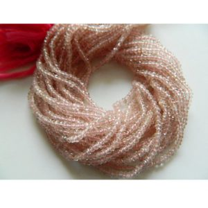 Shop Rose Quartz Faceted Beads! Rose Quartz Beads, , Faceted Rondelles, 3mm Beads, 13.5 Inches Each | Natural genuine faceted Rose Quartz beads for beading and jewelry making.  #jewelry #beads #beadedjewelry #diyjewelry #jewelrymaking #beadstore #beading #affiliate #ad