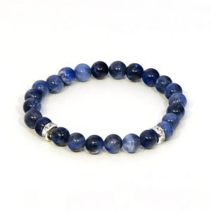 Shop Sodalite Bracelets! Sodalite Bracelet – Throat Chakra | Natural genuine Sodalite bracelets. Buy crystal jewelry, handmade handcrafted artisan jewelry for women.  Unique handmade gift ideas. #jewelry #beadedbracelets #beadedjewelry #gift #shopping #handmadejewelry #fashion #style #product #bracelets #affiliate #ad
