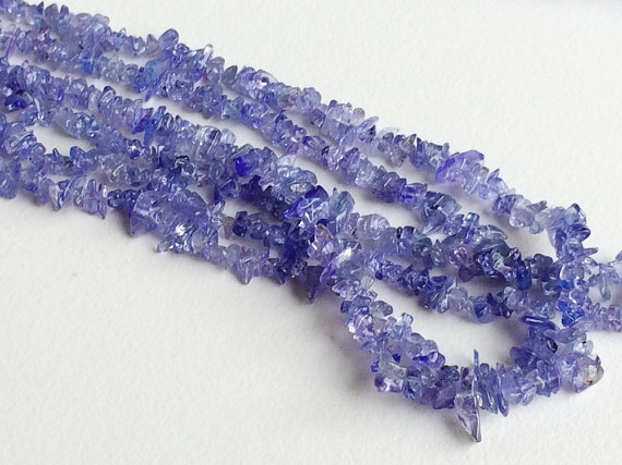 4mm Blue Tanzanite Chips, Tanzanite Gemstone, Blue Tanzanite, Tanzanite For Jewelry, Tanzanite Rough 16 Inch Strand  (1 Strand To 10 Strand)
