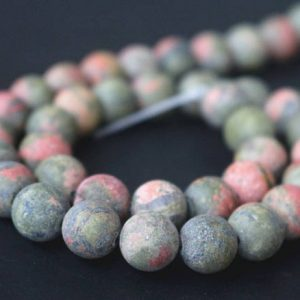 Shop Unakite Round Beads! Matte Unakite Beads, 6mm / 8mm / 10mm / 12mm Matte Round Stone Beads, 15 Inches One Starand | Natural genuine round Unakite beads for beading and jewelry making.  #jewelry #beads #beadedjewelry #diyjewelry #jewelrymaking #beadstore #beading #affiliate #ad