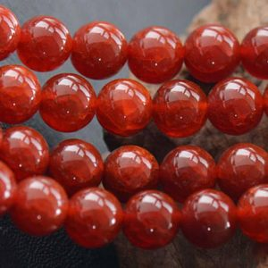 Shop Agate Round Beads! Red Crackle Agate Smooth and Round Beads,6mm/8mm/10mm/12mm Agate Wholesale Bulk Supply,15 inches one starand | Natural genuine round Agate beads for beading and jewelry making.  #jewelry #beads #beadedjewelry #diyjewelry #jewelrymaking #beadstore #beading #affiliate #ad