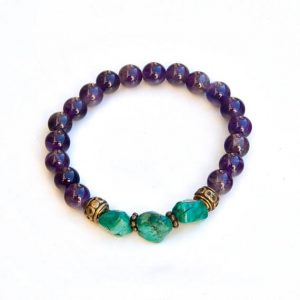 Amethyst bracelet – February birthstone | Natural genuine Amethyst bracelets. Buy crystal jewelry, handmade handcrafted artisan jewelry for women.  Unique handmade gift ideas. #jewelry #beadedbracelets #beadedjewelry #gift #shopping #handmadejewelry #fashion #style #product #bracelets #affiliate #ad