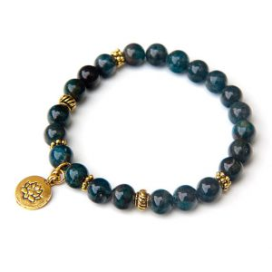 Shop Apatite Bracelets! Apatite bracelet with Lotus charm, Labradorite | Natural genuine Apatite bracelets. Buy crystal jewelry, handmade handcrafted artisan jewelry for women.  Unique handmade gift ideas. #jewelry #beadedbracelets #beadedjewelry #gift #shopping #handmadejewelry #fashion #style #product #bracelets #affiliate #ad