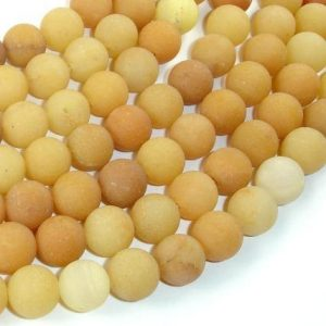 Matte Yellow Aventurine Beads, 10mm(10.5mm) Round Beads, 15 Inch, Full Strand, Approx 37 Beads, Hole 1mm, A Quality (439054008)