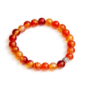 Carnelian bracelet – Sacral Chakra healing | Natural genuine Carnelian bracelets. Buy crystal jewelry, handmade handcrafted artisan jewelry for women.  Unique handmade gift ideas. #jewelry #beadedbracelets #beadedjewelry #gift #shopping #handmadejewelry #fashion #style #product #bracelets #affiliate #ad