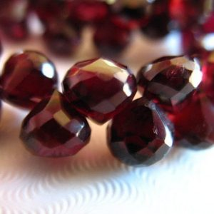 Shop Sale..Garnet Beads Briolettes, Onions, Luxe AAA, 6 pcs, 5-6 mm, Burgundy Merlot Berry, plum january birthstone | Natural genuine other-shape Garnet beads for beading and jewelry making.  #jewelry #beads #beadedjewelry #diyjewelry #jewelrymaking #beadstore #beading #affiliate #ad
