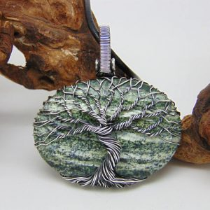 Tree Of Life Pendant, Zebra jasper Necklace, Wire Wrapped Jewellery | Natural genuine Jasper necklaces. Buy crystal jewelry, handmade handcrafted artisan jewelry for women.  Unique handmade gift ideas. #jewelry #beadednecklaces #beadedjewelry #gift #shopping #handmadejewelry #fashion #style #product #necklaces #affiliate #ad