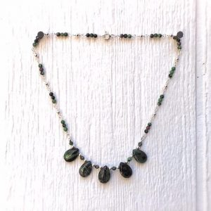 Shop Ruby Necklaces! Green and Red Necklace – Ruby Zoisite Gemstone Jewelry – Sterling Silver Jewellery – Fashion | Natural genuine Ruby necklaces. Buy crystal jewelry, handmade handcrafted artisan jewelry for women.  Unique handmade gift ideas. #jewelry #beadednecklaces #beadedjewelry #gift #shopping #handmadejewelry #fashion #style #product #necklaces #affiliate #ad