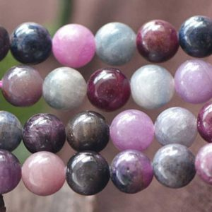 Natural Aaa Red Sapphire Smooth And Round Stone Beads,6mm/8mm/10mm/12mm Gemstone Wholesale Bulk Beads Supply,15 Inches One Starand