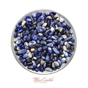 28 Gm Sodalite Mini Tumbled Stone Healing Crystal And Stone For Jewelry And Craft #sm01