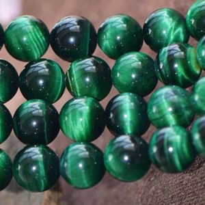 Shop Tiger Eye Beads! Natural Green Tigereye Smooth and Round Beads,6mm/8mm/10mm/12mm Tigereye Beads Bulk Supply,15 inches one starand | Natural genuine beads Tiger Eye beads for beading and jewelry making.  #jewelry #beads #beadedjewelry #diyjewelry #jewelrymaking #beadstore #beading #affiliate #ad