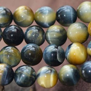 Shop Tiger Eye Round Beads! Natural AAAA Tigereye Smooth and Round Beads,6mm/8mm/10mm/12mm Tigereye Beads Bulk Supply,15 inches one starand | Natural genuine round Tiger Eye beads for beading and jewelry making.  #jewelry #beads #beadedjewelry #diyjewelry #jewelrymaking #beadstore #beading #affiliate #ad