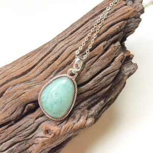 Shop Amazonite Pendants! Amazonite Pendant, Natural Amazonite Gemstone, Amazonite Sterling Silver Pendant, Light Blue Green Shades, Amazonite Jewelry, From Israel | Natural genuine Amazonite pendants. Buy crystal jewelry, handmade handcrafted artisan jewelry for women.  Unique handmade gift ideas. #jewelry #beadedpendants #beadedjewelry #gift #shopping #handmadejewelry #fashion #style #product #pendants #affiliate #ad