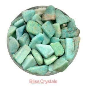 2 Oz Parcel Russian Amazonite Tumbled Stone Mixed Lot Green Healing Crystal And Stone Communication Calming #az21