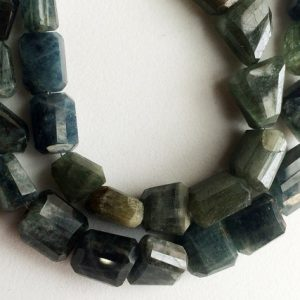 Shop Aquamarine Faceted Beads! Moss Aquamarine Beads, Moss Aqua Faceted Tumble Beads, Moss Aquamarine Necklace, 11mm – 17mm Beads, 4 Inch Strand, 6 Pieces | Natural genuine faceted Aquamarine beads for beading and jewelry making.  #jewelry #beads #beadedjewelry #diyjewelry #jewelrymaking #beadstore #beading #affiliate #ad