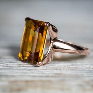 Shop Citrine Engagement Rings! Citrine 14k Rose gold Ring size 8 – Citrine Ring 9.5ct  – Citrine Gold Ring – november birthstone Citrine Ring Rose Gold Size 8 Rose Gold | Natural genuine Citrine rings, simple unique handcrafted gemstone rings. #rings #jewelry #shopping #gift #handmade #fashion #style #affiliate #ad