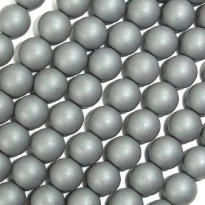 Matte Hematite Beads, 8mm Round Beads, 16 Inch, Full Strand, Approx 52 Beads, Hole 1mm, A Quality (269054016)