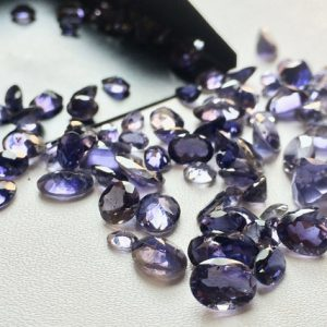 Shop Iolite Beads! Iolite Cut Stone , Loose Faceted Gems, AAA Iolite Gemstone, Violet Blue Iolite Gemstones, 3-9mm, 10 Ctw, 20 Pieces | Natural genuine gemstone beads for making jewelry in various shapes & sizes. Buy crystal beads raw cut or polished for making handmade homemade handcrafted jewelry. #jewelry #beads #beadedjewelry #product #diy #diyjewelry #shopping #craft #product