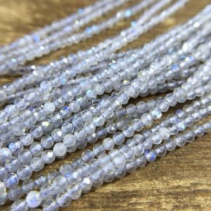 "Shop Labradorite Faceted Beads! 2mm High Flash Labradorite Beads Natural AAA Micro Faceted Round Labradorite Beads Gemstone Beads Supplies Jewelry Beads 15.5"" Full Strand 