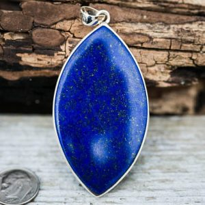 Shop Lapis Lazuli Necklaces! Lapis Pendant set in Sterling Silver – Gorgeous Lapis Lazuli Pendant – Lapis Jewelry – Sterling Silver Lapis Necklace – Lapis Lazuli Jewelry | Natural genuine Lapis Lazuli necklaces. Buy crystal jewelry, handmade handcrafted artisan jewelry for women.  Unique handmade gift ideas. #jewelry #beadednecklaces #beadedjewelry #gift #shopping #handmadejewelry #fashion #style #product #necklaces #affiliate #ad