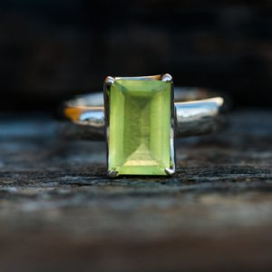 Shop Prehnite Rings! Prehnite Ring size 9 – Prehnite Ring – Prehnite Ring size 9 – Stunning Prehnite Ring – Natural Prehnite Ring – Prehnite | Natural genuine Prehnite rings, simple unique handcrafted gemstone rings. #rings #jewelry #shopping #gift #handmade #fashion #style #affiliate #ad