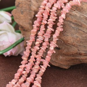 Shop Rhodochrosite Chip & Nugget Beads! Natural Soft Pink Rhodochrosite Gemstone Freedom Chips Beads in Lots Wholesale (JY39) | Natural genuine chip Rhodochrosite beads for beading and jewelry making.  #jewelry #beads #beadedjewelry #diyjewelry #jewelrymaking #beadstore #beading #affiliate #ad