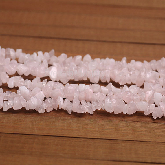Rose Quartz Chips, Genuine Pink Quartz Gemstone Chip Beads, Full Strand, Diy Chip Jewelry Beads, Natural Chips Supplies (y151)