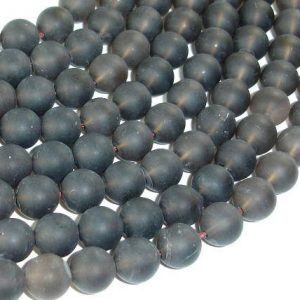 Shop Smoky Quartz Round Beads! Matte Smoky Quartz Beads, 10mm Round Beads, 16 Inch, Full Strand, Approx 41 Beads, Hole 1mm (408054012) | Natural genuine round Smoky Quartz beads for beading and jewelry making.  #jewelry #beads #beadedjewelry #diyjewelry #jewelrymaking #beadstore #beading #affiliate #ad