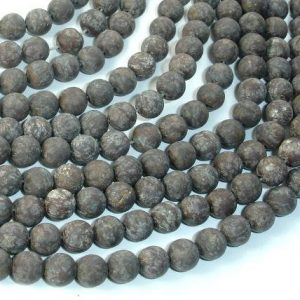 Shop Snowflake Obsidian Round Beads! Matte Brown Snowflake Obsidian Beads, 6mm (6.3mm) Round Beads, 15 Inch, Full strand, Approx 62 beads, Hole 1mm (193054006) | Natural genuine round Snowflake Obsidian beads for beading and jewelry making.  #jewelry #beads #beadedjewelry #diyjewelry #jewelrymaking #beadstore #beading #affiliate #ad