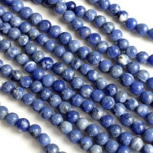 5 Strands Wholesale Sodalite Stone, Natural Blue Sodalite Rondelle, Blue Beads, Sodalite Necklace, 5mm Beads, 13 Inch Strand