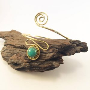 Shop Turquoise Bracelets! Gold Turquoise armlet. upper arm cuff, Brass arm bracelet, Gypsy arm cuff, Tibetan Turquoise, natural stone brass armlet, Boho, Gypsy, gift | Natural genuine Turquoise bracelets. Buy crystal jewelry, handmade handcrafted artisan jewelry for women.  Unique handmade gift ideas. #jewelry #beadedbracelets #beadedjewelry #gift #shopping #handmadejewelry #fashion #style #product #bracelets #affiliate #ad