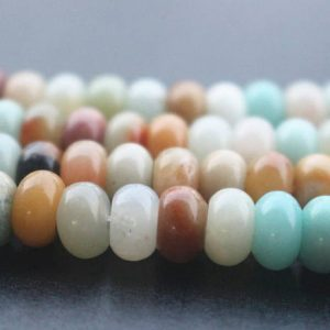 Shop Amazonite Rondelle Beads! Natural Aa Mixcolor Amazonite Rondelle Beads, rondelle Amazonite Beads, 15 Inches One Starand | Natural genuine rondelle Amazonite beads for beading and jewelry making.  #jewelry #beads #beadedjewelry #diyjewelry #jewelrymaking #beadstore #beading #affiliate #ad