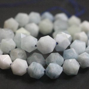 Natural Aquamarine Faceted Star Cut Nugget Beads, 6mm / 8mm / 10mm / 12mm Faceted Aquamarine Star Cut Nugget Beads, 15 Inches One Starand | Natural genuine chip Aquamarine beads for beading and jewelry making.  #jewelry #beads #beadedjewelry #diyjewelry #jewelrymaking #beadstore #beading #affiliate #ad