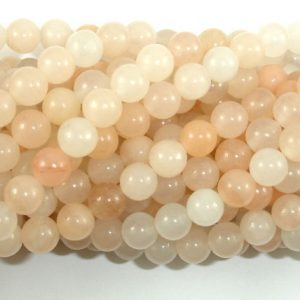 Shop Aventurine Round Beads! Pink Aventurine Beads, 6mm (6.5 mm) Round Beads, 15.5 Inch, Full strand, Approx 62 beads, Hole 1mm (353054001) | Natural genuine round Aventurine beads for beading and jewelry making.  #jewelry #beads #beadedjewelry #diyjewelry #jewelrymaking #beadstore #beading #affiliate #ad
