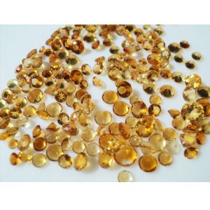 Shop Citrine Faceted Beads! Citrine Cabochons, Faceted Cabochons, Calibrated Citrine, 3mm Each – 48 To 50 Pieces | Natural genuine faceted Citrine beads for beading and jewelry making.  #jewelry #beads #beadedjewelry #diyjewelry #jewelrymaking #beadstore #beading #affiliate #ad