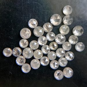 Shop Diamond Cabochons! 5 Pcs Light Grey Rose Cut Diamond, 2-2.5mm Rare Natural Rose Cut Diamond Cabochon, Loose Faceted Diamond, Rose Cut Diamond Jewelry- PUSPD169 | Natural genuine stones & crystals in various shapes & sizes. Buy raw cut, tumbled, or polished gemstones for making jewelry or crystal healing energy vibration raising reiki stones. #crystals #gemstones #crystalhealing #crystalsandgemstones #energyhealing #affiliate #ad