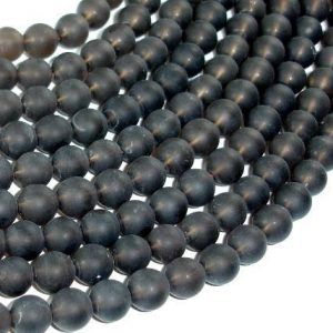 Matte Smoky Quartz Beads, 8mm Round Beads, 15.5 Inch, Full strand, Approx 49 beads, Hole 1mm (408054011)