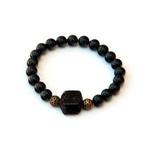 Black Tourmaline bracelet, grounding, protection | Natural genuine Array bracelets. Buy crystal jewelry, handmade handcrafted artisan jewelry for women.  Unique handmade gift ideas. #jewelry #beadedbracelets #beadedjewelry #gift #shopping #handmadejewelry #fashion #style #product #bracelets #affiliate #ad