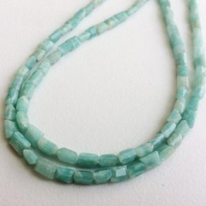 Shop Amazonite Bead Shapes! 3-5mm Amazonite Chewing Gum Cut Beads,  Natural Amazonite Rectangle Cut Beads, 13 Inch Amazonite For Necklace (1Strand To 5Strands Options) | Natural genuine other-shape Amazonite beads for beading and jewelry making.  #jewelry #beads #beadedjewelry #diyjewelry #jewelrymaking #beadstore #beading #affiliate #ad